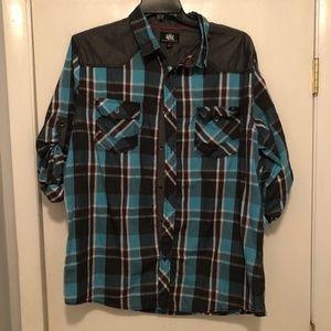 Rock & Republic Button Front Shirt Men's XXL